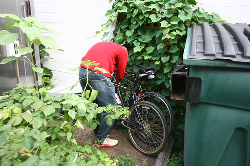 hiding the bikes