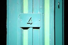 Blu4 (jeremiemv) Tags: blue shadow green lines d50 4 number honfleur artcafe linescurves doort worldglobalaward globalworldawards