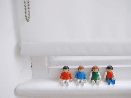 Playmobil na janela