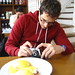 Tantek photographing his food
