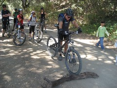 Mark explains how to ride over obstacles. (09/14/2008)