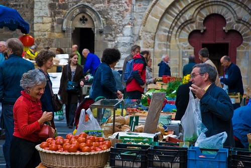 Cahors market, Lot, France, 20 Sept. 2008