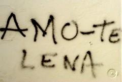 Amo-Te Lena (Markus Lüske) Tags: street urban streetart art portugal painting graffiti mural arte kunst urbanart graffito farol algarve formosa bild muralha ria malen olhao wandmalerei gemälde zeichnen strase culatra sprühen sprayen lueske ilustrarportugal lüske