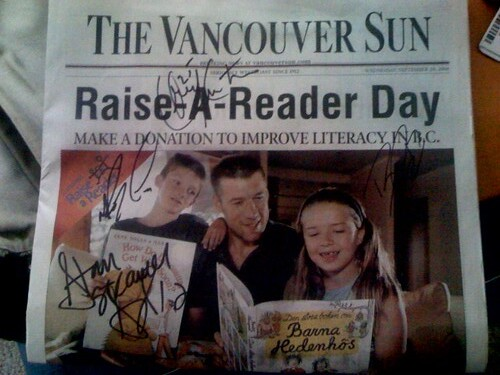 Raise a Reader Morning with the Canucks