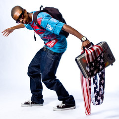 Vote hip hop (Myron Watkins) Tags: portrait white umbrella studio flag watch american backpack alienbee rapper softbox chucks reflector seamles ab1600 ab400