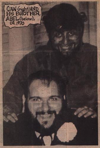 Cain and Abel pinup circa 1970