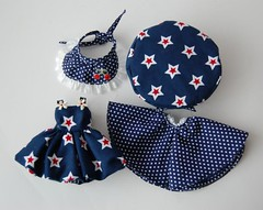 4 Piece Blue Dottie Outfit
