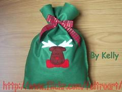 Embalagem Tema Natal (Kelly - Feltro Art) Tags: natal feltro saco rena presente molde panetone embalagem embalabem