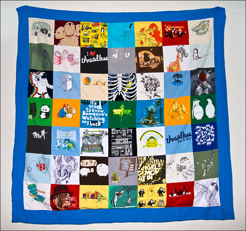 Threadless quilt - almost done!