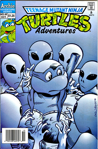 """Teenage Mutant Ninja Turtles Adventures"" #49.. cover art by Chris Allan & Ryan Brown [[ Sons of Silence & Donatello ..]]  (( 1993 ))"