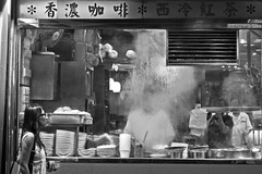 Noodle Shop (Discaciate) Tags: china people blackandwhite bw food night hongkong citylife streetphotography steam hkg peoplewatching decisivemoment d300 noodleshop discaciate