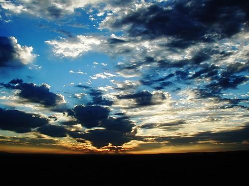 late afternoon skies