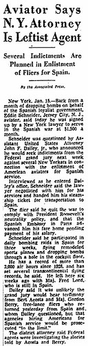 Aviator Says New York Attorney Is Leftist Agent. Several Indictments Are Planned in Enlistment of Fliers for Spain.