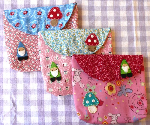 Gnome and Mushroom Pouches