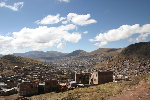 Leaving Puno means a little climb back up on the altiplano...