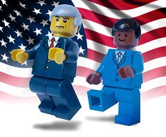 President-Elect Obama (Digger Digger Dogstar) Tags: november usa john us election lego presidential explore minifigs 2008 5th obama mccain barack bluesuit presidentlegobama presidentelectobama