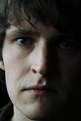 Deil (tienne Ljni Poisson) Tags: shadow portrait man cold eye face soft sad expression
