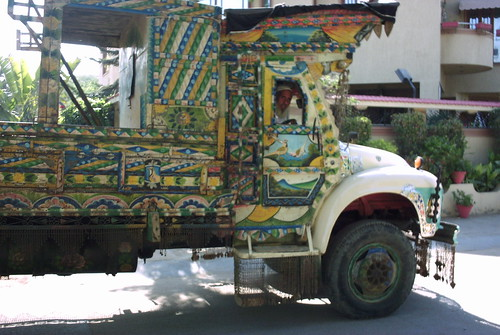 Pakhtun Shaikh in his truck 0004
