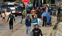 West Cliff Drive traffic (Richard Masoner / Cyclelicious) Tags: people santacruz blind wheelchair stopsign surfboard pedestrians walkers jogger westcliffdrive jogbra