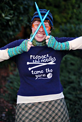 respect the needles. tame the yarn.