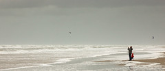 And his wife (j_wijnands) Tags: sky kite storm beach grey cloudy surfer kitesurfing 28105mmf3545d zandvoort kitesurfer kitsurfing pleasecontactmeifyouwanttouseapicturejeroenwijnandsatgmailcom