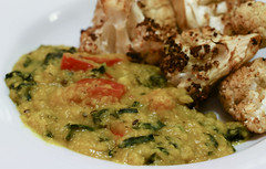 Dal with Roasted Cauliflower