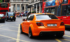 Lumma M5 (Kurt Blythman) Tags: auto orange slr london cars car wheel mercedes automobile 4 wheels automotive ferrari limo german porsche bmw mirage autos gt lamborghini carrera lumma 190e murchie