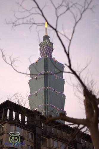 晚秋的Taipei101