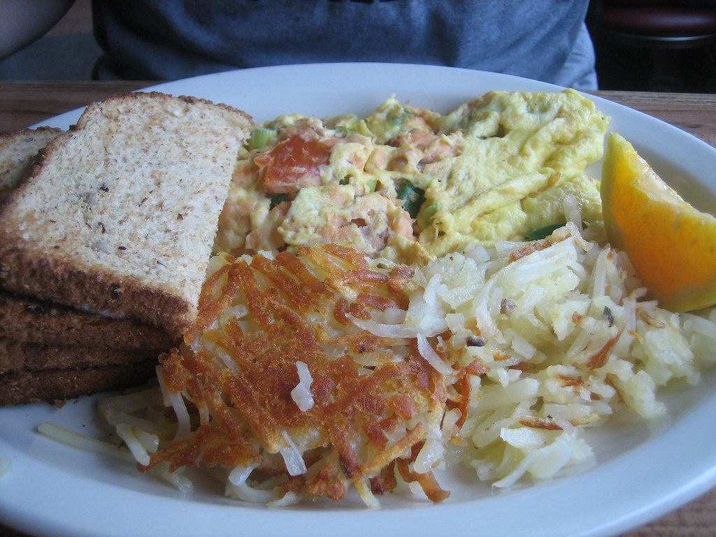 Lowell's salmon scramble