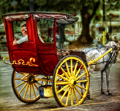 Calesa...18th Century Mode of Transportation (Vic de Vera) Tags: street travel horse man art photography photo carriage view country philippines wheels explore spanish transportation manila destination cart mode binondo pinoy kalesa calesa aplusphoto vicdevera
