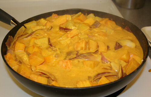 Continue simmering for 15 to 20 minutes or until the vegetables are tender.