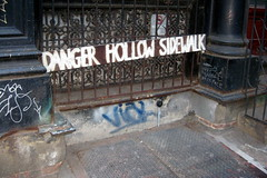 NYC - TriBeCa: Danger Hollow Sidewalk by wallyg, on Flickr