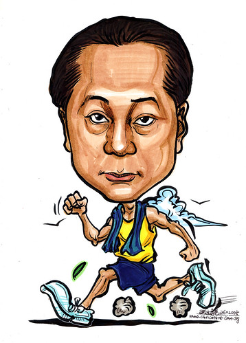 Caricature jogger