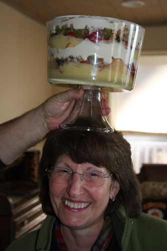 Linda crowned with her own dessert