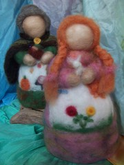 Lady Spring and Mother Earth (parnasus13) Tags: doll dolls crafts waldorf craft waldorfdolls waldorftoys