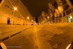 down to the floor (Berts @idar) Tags: noche calle zaragoza nocturnas callejeando nocturno valdespartera espaa peleng8mmfisheye canoneos400ddigital