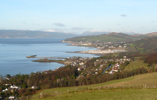 Largs from above Fairlie 10Dec08