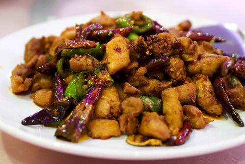 stir fried chicken with capsicum