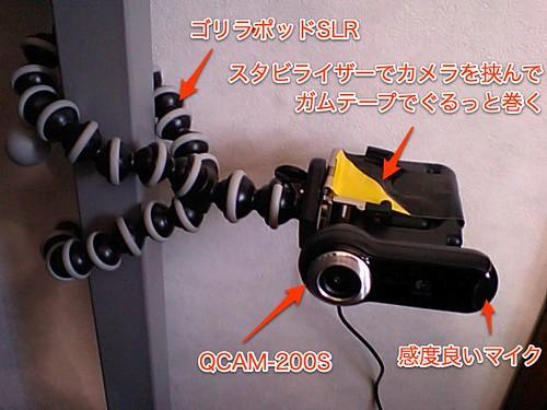QCAM-200S + GorillaPod SLR