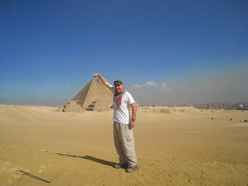 Playing around at the Great Pyramids