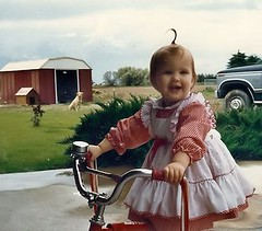 Chelsea Ann... little bithdy girl (ittybittybirdy) Tags: birthday red bike vintage dress bell streamers secondbirthday age2 chelseaann ittybittybirdy