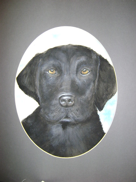 Art with a Bark: Black Labrador Retriever puppy watercolors by