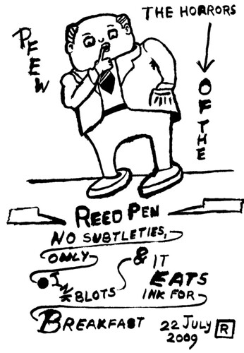 Drawing with a reed pen