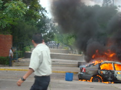 represión en la UNAH 5 de Agosto 3 por Protesta