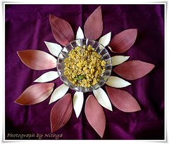 Antipookoora - Banana Flower Recipe and Art Photo by Nithya