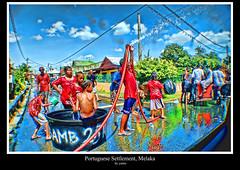 Portuguese Settlement Water Festival (yantomycin) Tags: melaka malacca portugis perkampungan