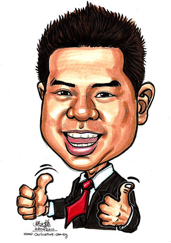 colour caricature of Roy Ngai