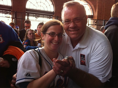 Me with Ed Hearn, and I'm wearing his World Series ring