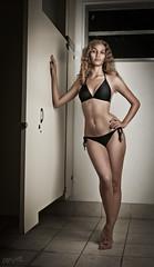 Cheverly (chixsenz) Tags: black public bath room toilet bikini comfort swimsuit chixsenz