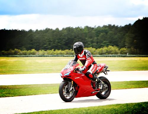 Comin' Into The Pits Ducati 1098 desmo track day carolina motorsports park